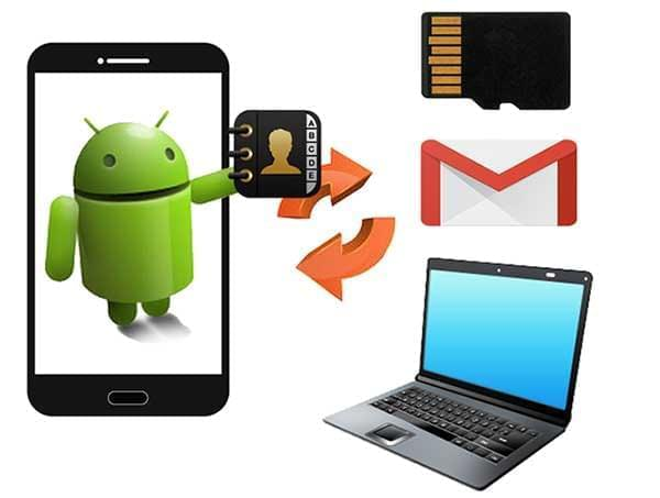 Ways to backup Android contacts