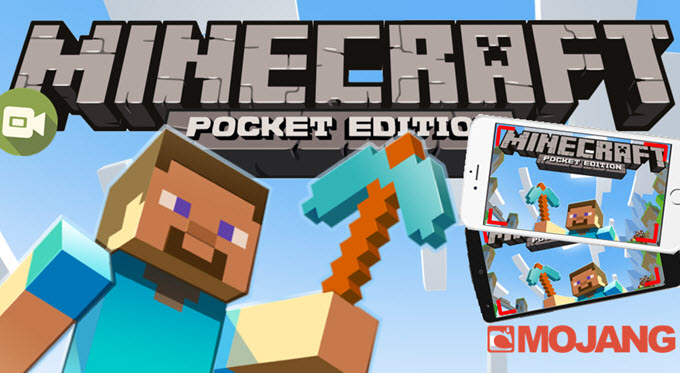 how to record minecraft pe on iphone and android