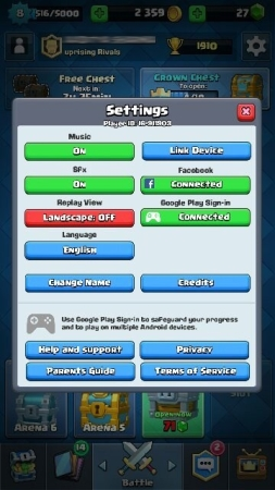 clash of clans switch account