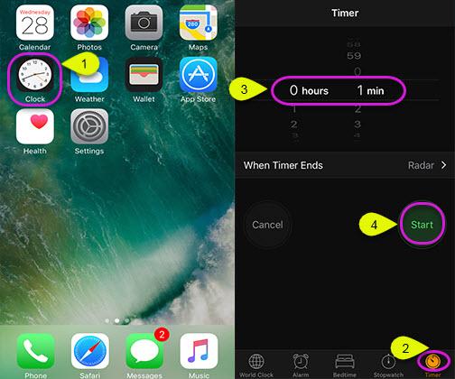 Set Iphone Timer