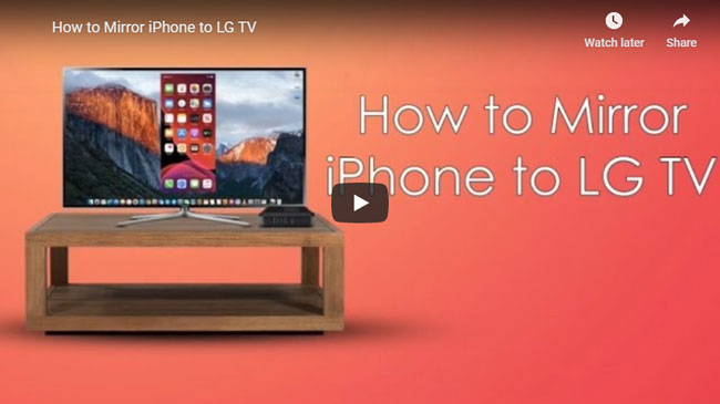 How to Mirror iPhone on LG TV